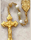 Gold Rosary Beads