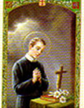 Cromo patron saint prayer cards