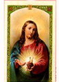Cromo Spanish prayer cards