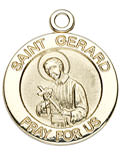 14k Gold Saint Medal