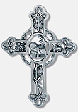 Communion Boy Pewter Wall Cross