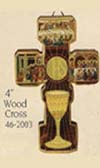 Communion Chalice Wood Wall Cross
