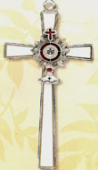 Communion Monstrance Silver Cross