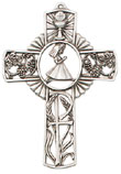 Girl Pewter Communion Cross