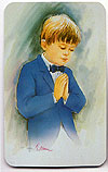 Communion Boy Prayer Card
