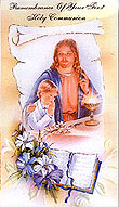Boy Remembrance Communion Card