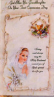 Granddaughter Communion Card