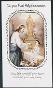Boy Communion Greeting Card Eucharist