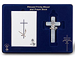 2 piece Blessed Trinity Communion Set White