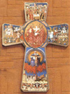 Life of Christ Wooden Wall Cross - 9.5 inches