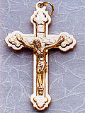 Small Metal Gold Tint Crucifix