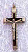 1.75 Inch Brown Metal Bound Crucifix Pendant