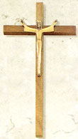 10 Inch Slim Risen Christ Crucifix