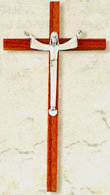 7 Inch Slim Walnut Risen Christ Crucifix