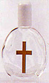 Glass Cross Holy Water Bottle - No Water