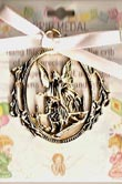 Guardian Angel Girl Crib Medal
