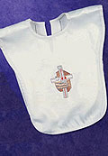 Baby's Baptismal Embroided Full Bib