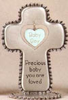 Baby Boy Pewter Table Cross