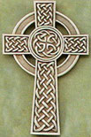 5 inch Silver Celtic Wall Cross Classic