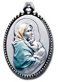 Salerni Madonna of the Street Sterling Silver Keychain