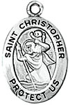 St Christopher -Oval Sterling Silver