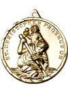 Gold Filled St Christopher Medal - Large