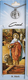 St Mark Prayer Card with Pewter Medal
