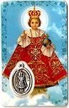 Infant of Prague Prayer Card
