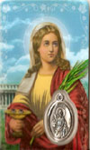 St Lucy Laminated Prayer Card