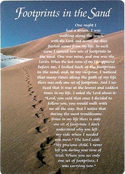 Footprints In The Sand Prayer