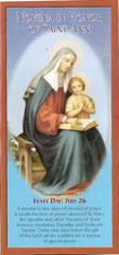 St Ann Novena Tri-Fold Prayer Card