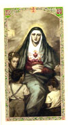 7 Sorrows of Mary Laminated Prayer Card