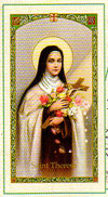 Saint Theresa Laminated Prayer Card