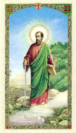 Prayer to Saint Paul the Apostle Laminated Card