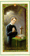 Saint Gerard Laminated Prayer Card - Prayer for Safe Delivery