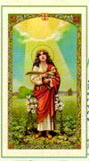 Saint Agnes Laminated Prayer card