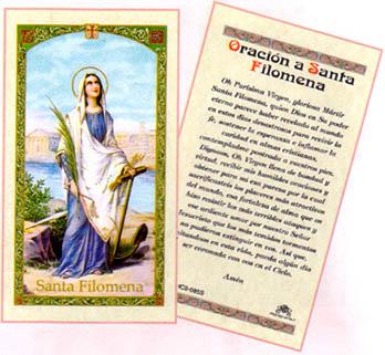 Oracion A Santa Filomena