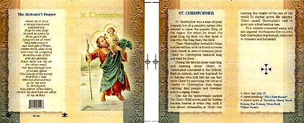 St. Christopher Biography Prayer Card