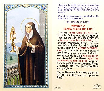 Clara - Oracion A Santa Clara