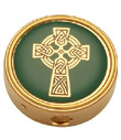 Celtic Cross Brass Pyx