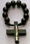 Wood Bead Rosary Rings