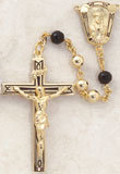 22KT Gold Men's Rosary with Gold Pater Beads