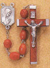 22 Inch Men's Rosary with Bakelite Wood Beads