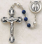 Sterling Silver Rosary with Semi-Precious Stone