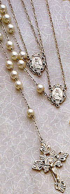 10mm Pearl Wedding Rosary