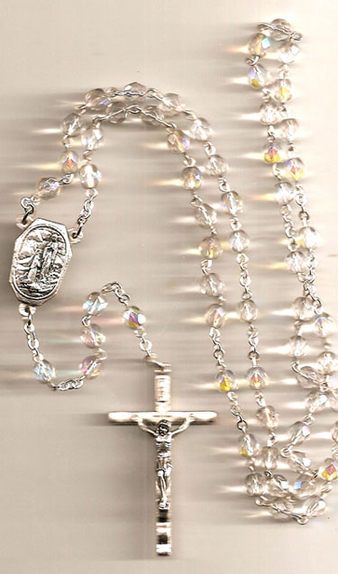 Lourdes Water Crystal Rosary
