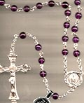 All Sterling Silver Amethyst Rosary