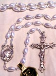 7 mm Faux Pearl Bead Rosary