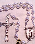 5 mm Faux Pearl Bead Rosary