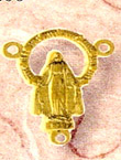 Miraculous Gold Metal Rosary Center